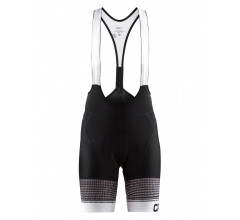Craft Fietsbroek kort met bretels - koersbroek Dames Zwart Wit / EMPRESS BIB SHORTS W BLACK/WHITE