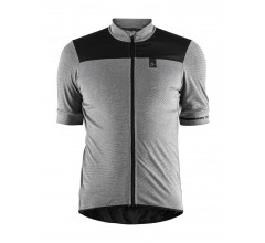 Craft Fietsshirt Heren Grijs Zwart / POINT JERSEY M DK GREY MELANGE/BLACK