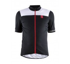 Craft fietsshirt korte mouwen heren Zwart Wit / POINT JERSEY M