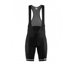 Craft Fietsbroek met bretels - koersbroek Heren Zwart Wit / RISE BIB SHORTS M BLACK/WHITE