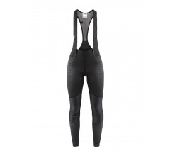 Craft Fietsbroek lang met bretels Dames Zwart Zwart / IDEAL WIND BIB TIGHTS W BLACK/BLACK