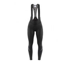 Craft Fietsbroek lang met bretels Dames Zwart Zwart / IDEAL THERMAL BIB TIGHTS W BLACK/BLACK