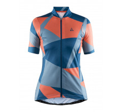 Craft Fietsshirt Dames Blauw  / HALE GRAPHIC JERSEY W NOX/SHORE