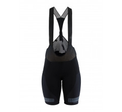 Craft Fietsbroek met bretels - koersbroek Dames Zwart  / HALE GLOW BIB SHORTS M BLACK