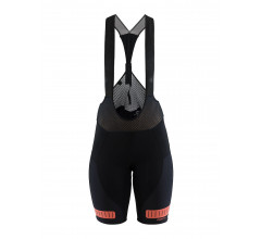 Craft Fietsbroek met bretels - koersbroek Dames Zwart  / HALE GLOW BIB SHORTS M BLACK/BOOST