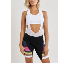Craft Fietsbroek met Bretels Kort Dames Zwart Multikleur - HALE GLOW BIB SHORTS W BLACK/FAME