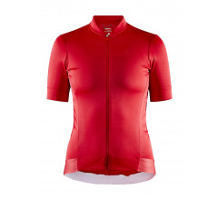 Craft Fietsshirt Korte mouwen Dames Rood Wit - ESSENCE JERSEY W BRIGHT RED