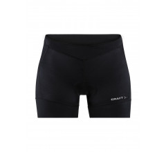 Craft Fietsbroek zonder Bretels extra Kort Dames Zwart Zilver - ESSENCE HOT PANTS W BLACK/SILVER