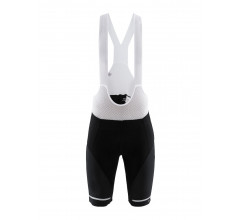 Craft Fietsbroek met bretels - koersbroek Heren Zwart Wit / HALE BIB SHORTS M BLACK/WHITE