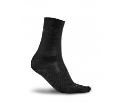 Craft Fietssokken winter unisex Zwart / 2-PACK WOOL LINER SOCK BLACK