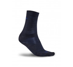 Craft Fietssokken winter unisex Zwart Blauw / 2-PACK WOOL LINER SOCK BLACK/BURST