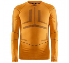Craft Ondershirt Lange Mouwen Heren Oranje Grijs - ACTIVE INTENSITY CN LS M TIGER ASPHALT