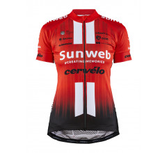 Craft Fietsshirt korte mouwen Dames Rood Wit / TEAM SUNWEB REPLICA JERSEY W TEAM SUNWEB RED