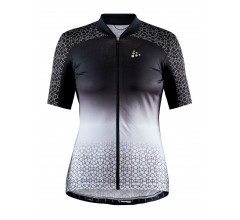 Craft Fietsshirt Korte mouwen Dames Zwart Wit - STRIDE JERSEY W BLACK/WHITE