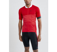 Craft Fietsshirt Korte mouwen Heren Rood Wit - ADOPT JERSEY M BRIGHT RED/WHITE