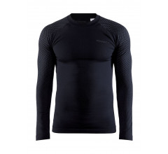 Craft Ondershirt Lange Mouwen Heren Zwart - ADV WARM FUSEKNIT INTENSITY LS M BLACK