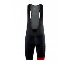 Craft Koersbroek Heren Zwart Rood - CORE ENDUR BIB SHORTS M BLACK BRIGHT RED