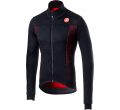 Castelli Fietsjack Heren Zwart Rood / CA Espresso V Jacket Light Black/Red