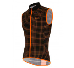 Santini Windstopper mouwloos Zwart Heren - Nebula Windproof And Rain Resistant Skin Vest Black
