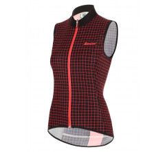 Santini Windstopper mouwloos Zwart Dames - Nebula Windproof/Rain Resistant Skin Vest For Women Black