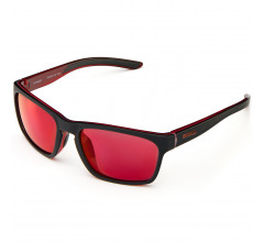 Briko Casual zonnebril unisex Zwart - Typhoon Mirror Color HD Sunglasses Mt Black Red -Krm3