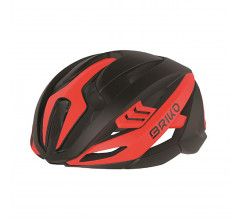 Briko Fietshelm Race unisex Zwart Rood - Quasar Bike Helmet Shiny Black Red