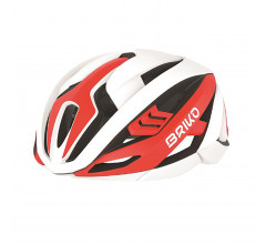 Briko Fietshelm Race unisex Rood Wit - Quasar Bike Helmet Shiny Red White