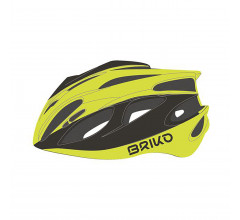 Briko Fietshelm Race unisex Fluo Grijs - Kiso Bike Helmet Shiny Yellow Fluo Metallic Grey