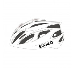 Briko Fietshelm Race unisex Wit - Kiso Bike Helmet Shiny White