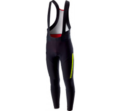 Castelli Fietsbroek lang Heren Zwart Fluo / CA Sorpasso 2 Bibtight Black/Yellow Fluo