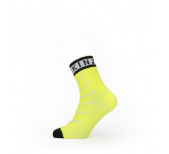 Sealskinz Fietssokken waterdicht voor Heren Fluo Zwart / Waterproof Warm Weather Ankle Length Sock with Hydrostop Yellow/Black/White