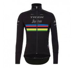 Santini Fietsjack Winter Heren Zwart - Trek-Segafredo Vega Xtreme Jacket - World Champion - 2020