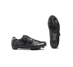 Northwave MTB fietsschoenen Heren Zwart Wit /  REBEL BLACK/WHITE