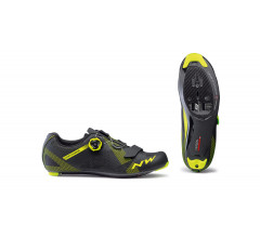 Northwave Race fietsschoenen Heren Zwart Fluo /  STORM CARBON BLACK/YELLOW FLUO