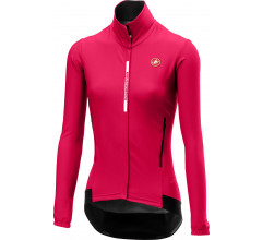 Castelli Fietsjack waterafstotend Dames Roze  / CA Perfetto W Long Sleeve Electric/Magenta