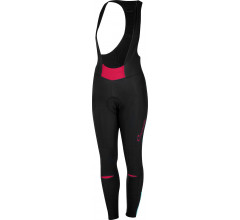 Castelli Fietsbroek lang Dames Zwart Roze / CA Chic Bibtight Black/Electric/Magenta
