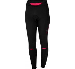 Castelli Fietsbroek lang Dames Zwart Roze / CA Chic Tight Black/Electric/Magenta