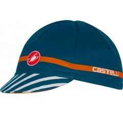 CASTELLI Free Cycling Cap / Fietsmuts Midnight Navy Oranje one size
