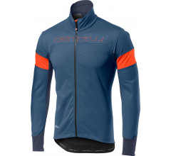 Castelli Fietsjack lange mouwen voor Heren Blauw Oranje / CA Transition Jacket L Steel Blue/Orange