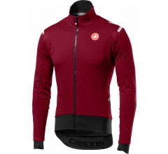 Castelli Fietsjack lange mouwen Rain Or Shine voor Heren Bordeaux Zwart / CA Alpha Ros Light Jacket Matador Red/Black