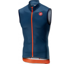 Castelli Fietsshirt mouwloos Heren Blauw  - CA Entrata 3 Sleeveless Fz-Light Steel/Blue