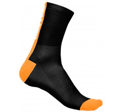 Castelli fietssokken Heren Zwart Oranje / CA Distanza 9 Sock Black/Orange