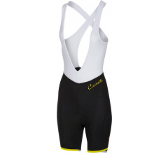 Castelli Fietsbroek Dames Zwart Fluo / CA Vista Bibshort Black/Yellow Fluo