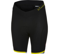 Castelli Fietsbroek Dames Zwart Fluo / CA Vista Short Black/Yellow Fluo