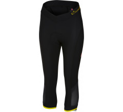 Castelli fietsbroek 3/4 Dames Zwart Fluo / CA Vista Knicker Black/Yellow Fluo