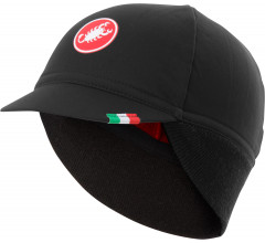 Castelli Fietspet Heren Zwart Rood / CA Difesa Thermal Cap Black/Red