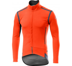 Castelli Fietsjack lange mouwen Rain Or Shine voor Heren Oranje  / CA Perfetto Ros Long Sleeve Orange