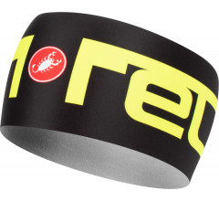 Castelli Haarband voor Heren Zwart Fluo / CA Viva 2 Thermo Headband Black/Yellow Fluo