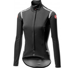 Castelli Fietsjack lange mouwen Rain Or Shine voor Dames Zwart  / CA Perfetto Ros W Long Sleeve Light Black