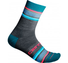 Castelli Fietssokken winter voor Dames Blauw  / CA Striscia 13 Sock Dress Blue